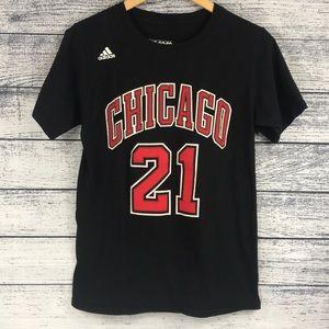 Adidas Chicago Bulls Black Jimmy Butler Tee Shirt